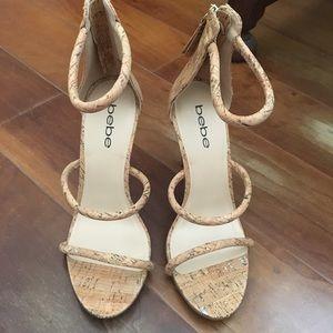 Bebe Strappy High Heels